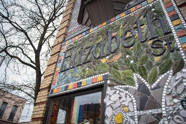 A beautiful mosaic marks Elizabeth St on the corner of Dundas St and Elizabeth St